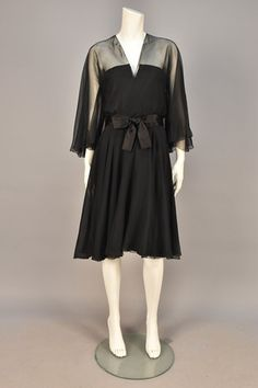LOT 760  MARC BOHAN for CHRISTIAN DIOR CHIFFON COCKTAIL DRESS, FALL-WINTER 1964.