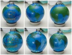 Do it yourself mini globe earth ornaments these are my do it peace on earth diy ornaments solutioingenieria Image collections