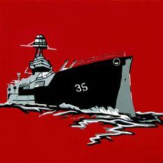 Pop art, battleship  sladeroberts.com