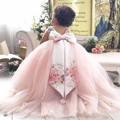 ARABELLA Pink Flower Girl Dresses, Little Girl Dresses, Flower Girls, Girls Dresses, Pageant Dresses, Gold Dress, Purple Dress, Lace Evening Dresses, Wedding Dresses