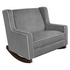 "Eddie Bauer Chair and Half-Rocker - Grey Because I will usually have a ""helper"" wanting to snuggle the babe as well."
