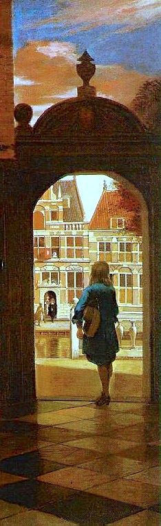 Music party in a courtyard, Pieter de Hooch