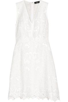 THEORY Jemion Broderie Anglaise Linen And Cotton-Blend Dress. #theory #cloth #dress