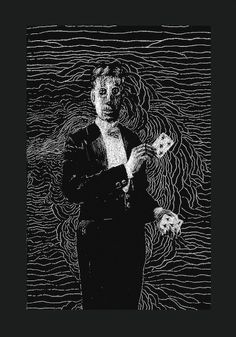 The Spectral Illusionist scratchboard print cards by odpeacock