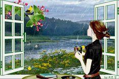 Un bon café en regardant tomber la pluie et en pensant  aux amies qui sont loin de nous  mais  dans  nos cœurs.......dédiée  à mes indispensables sœurs de coeur <3 <3 <3