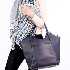 Bue cuero bolso monedero bolso bolso por TheLeatherStore en Etsy