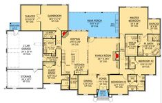 French Country Home Plan with Wide Open Spaces - 56342SM   Architectural Designs - House Plans