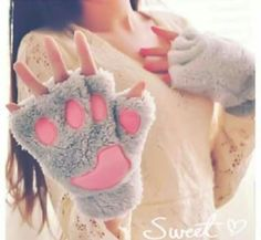 Animal Claw Gloves Women Men Soft Plush Paw Glove Bear Gloves For Dinosaur Luna Cat Halloween Costumes Durable Modeling Apparel Accessories