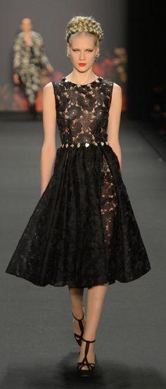 Lena Hoschek, black lace dress.
