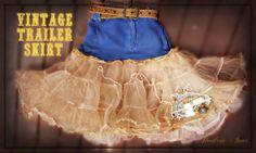 Rockabilly Vintage Style Vintage Lace Trailer Denim Petticoat , Crinoline Skirt/ TuTu https://www.facebook.com/groups/suzyhomefaker/