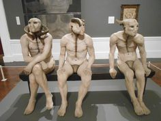 Butcher Boys (1985/86) is a sculpture made by South African artist Jane Alexander of three life size, oil painted plaster figures with animal horn and bone details, seated on a bench. The work formed part of her MAFA submission (University of the Witwatersrand) and was first exhibited at the Market Theatre Gallery in Johannesburg in 1986. It was acquired by the South African National Gallery in 1991. The work was a response to the state of emergency in South Africa at the time.
