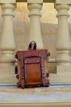 Backpack, Leather Canvas Backpack, Sling Backpack, Messenger – About Handbags Vintage Leather Backpack, Leather Backpack For Men, Messenger Bag Men, Leather Backpacks, One Shoulder Backpack, Shoulder Bags, Canvas Backpack, Sling Backpack, Monogram Backpack