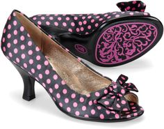 Sofft Valletta - Navy Pink Polka Dot Satin - View Sofft Womens    I really really want these shoes....