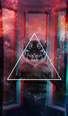// tiger // triangle // http://quequemumu.blogspot.com.ar/
