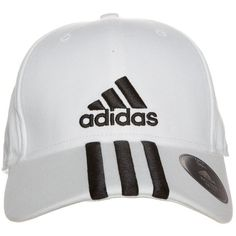 adidas Performance Cap white/black ❤ liked on Polyvore featuring accessories, hats, black and white hat, adidas, adidas hats, black and white cap and cap hats