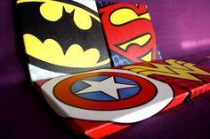 Superhero Logo Poster Justice League Canvas Print by Rakunsell Superhero Wall Art, Superhero Classroom, Superhero Poster, Canvas Art, Canvas Prints, Canvas Ideas, Batman Bathroom, Kids Bedroom, Kids Rooms