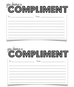 What does a compliment slip include normally?