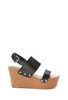 Faux Leather Wedge Sandals #stepitup