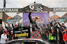 There Was No Denying Kevin Harvick in Phoenix | Fan4Racing  http://fan4racing.com/2014/03/02/there-was-no-denying-kevin-harvick-in-phoenix/  Kevin Harvick, driver of the #4 Jimmy John's Chevrolet, celebrates in Victory Lane after winning the NASCAR Sprint Cup Series The Profit On ...