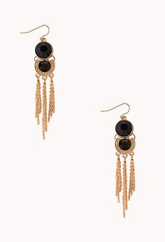 Chic Faux Stone Drop Earrings | FOREVER21 - 1000066641
