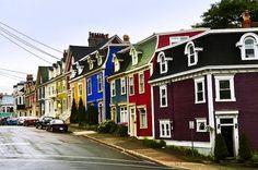 John's, Newfoundland, Canada Love the jelly bean houses! O Canada, Canada Travel, Nova Scotia, Ottawa, Oh The Places You'll Go, Great Places, Colourful Buildings, Colorful Houses, Newfoundland And Labrador