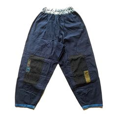 """""""""""SASAKI-JIRUSHI"""" Antique linen patched pants. Made by us. Name:Monpe,work pants…"""