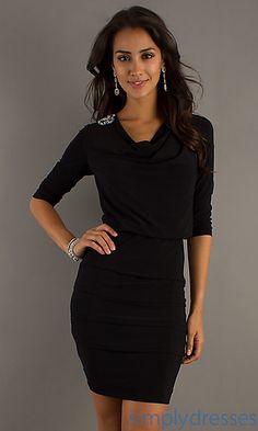 Short Black Semi Formal Dress