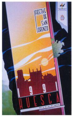 Cartel Fiestas de San Lorenzo 1991