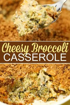 This Broccoli Cheese Casserole has tender broccoli smothered in a rich and creamy cheddar cheese sauce and is topped with crushed butter crackers. This is one side dish that is sure to please the masses! Holiday Side Dishes, Best Side Dishes, Real Food Recipes, Cooking Recipes, Healthy Recipes, Yummy Recipes, Delicious Meals, Fall Recipes, Casserole Recipes
