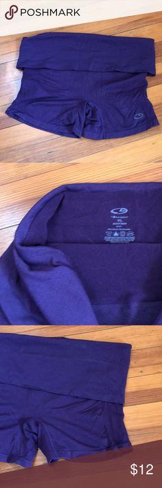 de22f07849 Foldover yoga spandex Champion brand. Yoga type fold over spandex shorts.  Like new!