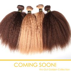 You want it, we have it! Our new #FroOut Golden Collection is almost here, just in time for Spring!  Get ready to place your orders. Because this hair is #HOT! #ONYCHair