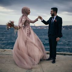 628 Likes, 15 Comments - Tual Moda ( . Muslim Prom Dress, Muslimah Wedding Dress, Muslim Wedding Dresses, Hijab Bride, Muslim Brides, Bridal Dresses, Wedding Gowns, Korean Wedding Photography, Photography Ideas
