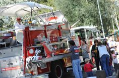 Company 77 food truck on a fire engine.