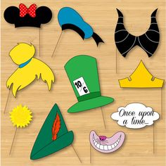 Disney Photo Booth Props  Mickey Mouse Disney by littleforests, $5.00