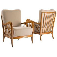 Pair of Paolo Buffa Armchairs | From a unique collection of antique and modern lounge chairs at http://www.1stdibs.com/furniture/seating/lounge-chairs/