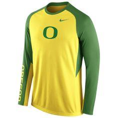 Oregon Ducks Nike 2015-2016 Elite Basketball Pre-Game Shootaround Long Sleeve Dri-FIT Top - Yellow