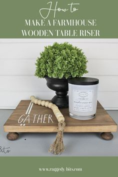 For this week's Waste Not Wednesday it's all about Table Riser Projects. Using some scrap wood and Dixie Belle Voodoo Gel Stain Tobacco Road along with some pine drawer handles you can follow along and make your very own Wooden Farmhouse Table Riser | www.raggedy-bits.com | #raggedybits #DIY #tableriser #farmhouse #tobacooroad Diy Farmhouse Table, Farmhouse Style Decorating, Vintage Farmhouse, Easy Backsplash, Kitchen Backsplash, Harp Design Co, Shop Display Stands, Prairie Style Houses, Cool Tables