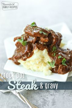 steak in this Crock Pot Steak and Gravy always comes out tender and flavorful. It is so easy to make with only 3 ingredients!The steak in this Crock Pot Steak and Gravy always comes out tender and flavorful. It is so easy to make with only 3 ingredients! Slow Cooker Steak, Crock Pot Slow Cooker, Crock Pot Cooking, Slow Cooker Recipes, Cooking Recipes, Casserole Crock Pot, Thin Steak Recipes, Crockpot Recipes, Crockpot Dishes
