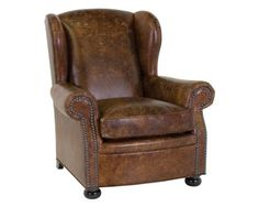 Leather cigar lounge chairs.