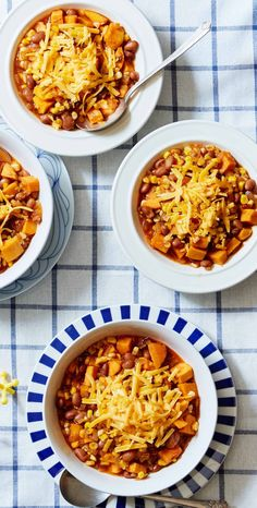"One-pot meals like this Corn and Sweet Potato Chili are made in one cooking vessel for easy cleanup, helping you and your family ""save time to make time"" on busy nights! Get easy-to-follow recipes and ingredients like this delivered straight to your door when you sign up for Martha & Marley Spoon."