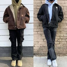 Denim Jacket Fashion, Mens Fashion, Fashion Outfits, Good Poses, Layering Outfits, Hoodie Outfit, Fall Winter Outfits, Mens Clothing Styles, Carhartt