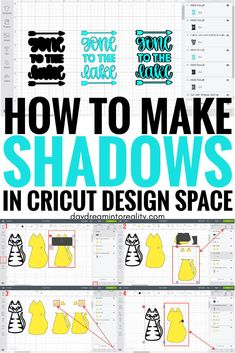 How to Make Outlines/Shadows to use in Cricut Design Space - Cricut T Shirts - Ideas of Cricut T Shirts - Learn something new today! Here are my tricks to make outlines and shadows in Cricut Design Space.