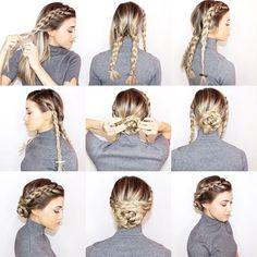 braided-updo-bun-hairstyle-tutorial