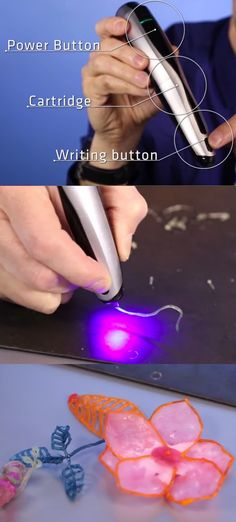 Drawing will never the same with this 3D-pen. I wonder if it'll make words pop out of the page when you're #writing