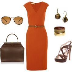 Orange, created by Rika on Polyvore