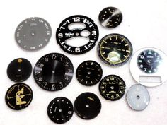 Steam Punk Supplies Vintage Rescued Watch Faces Scrapbooking Assemblage Mixed Media Grey and Black A5 #etsy  #gifts