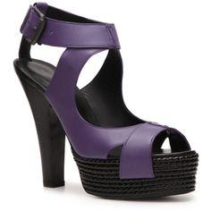 Bottega Veneta Leather Platform Sandal ($100) ❤ liked on Polyvore
