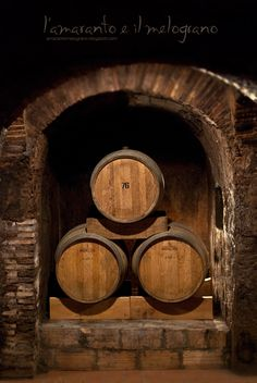 Italian wine cellar.  Wine would have been kept in either wooden or stone cellars, in the basements of houses.  It would have been stored in tankards, not bottles.