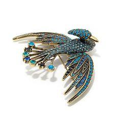 "Heidi Daus ""Bird of Paradise"" Crystal Pin"