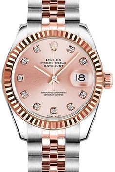 Rolex Oyster Perpetual Lady Dtejust with Gold Bazel | Luxury Watches for Women and Men | www.majordor.com